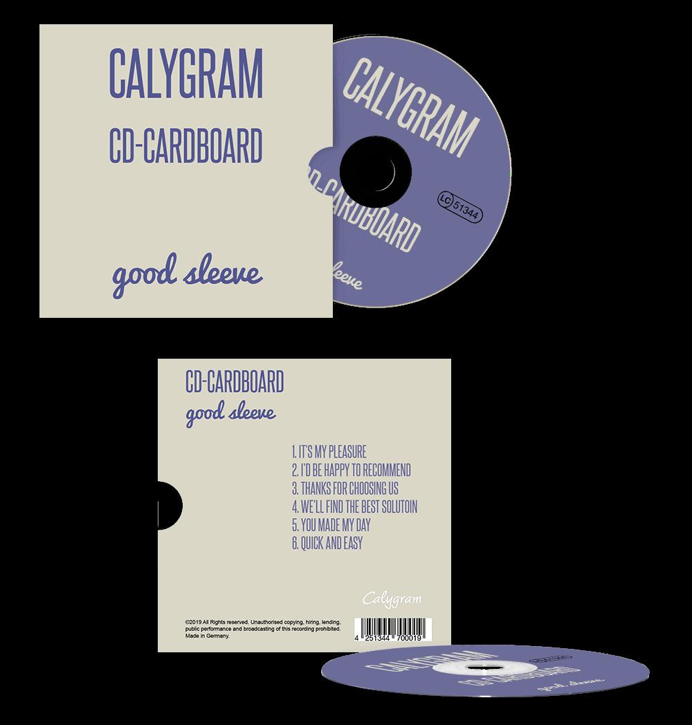 CD Pressen - CD in Kartonstecktasche